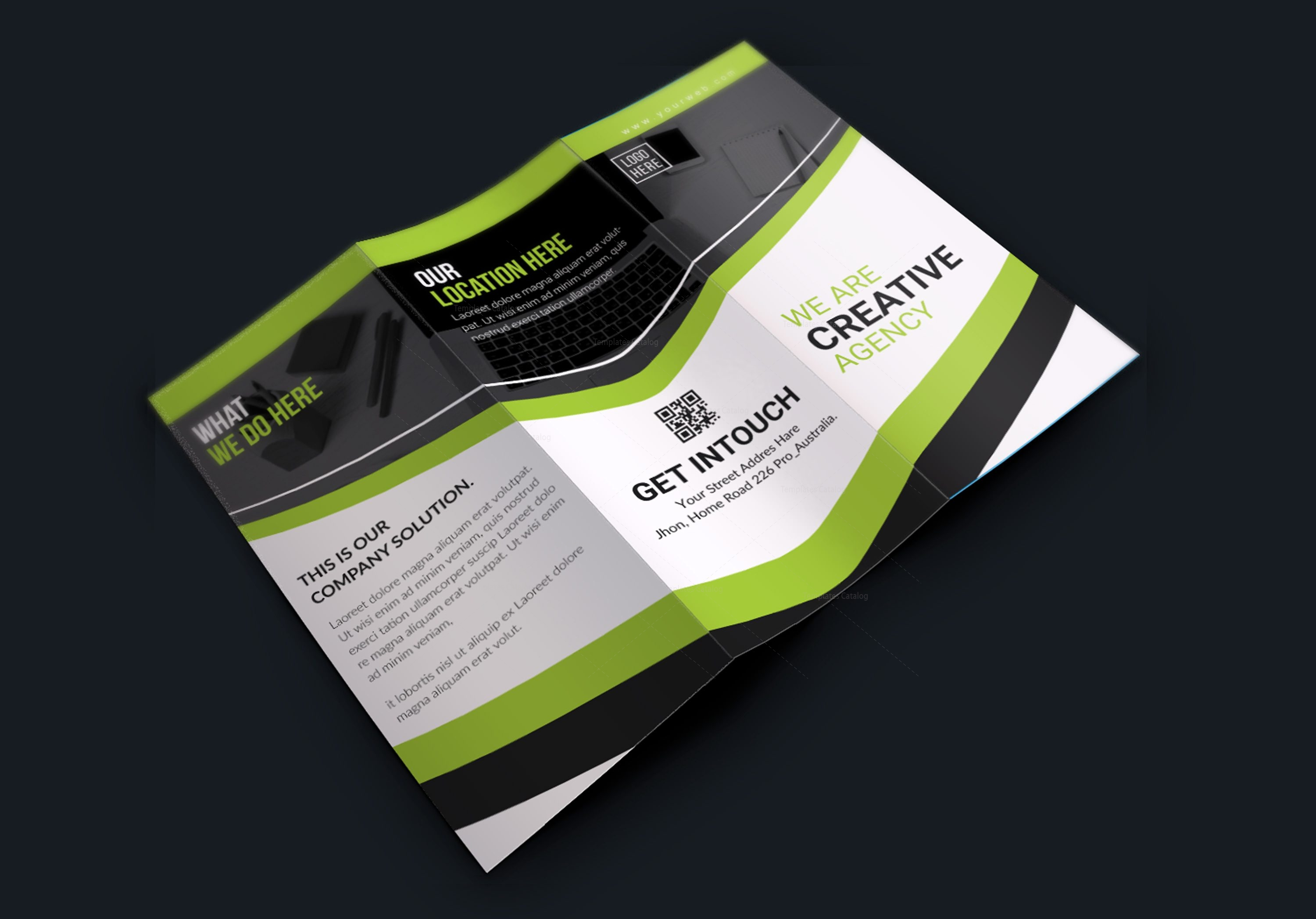 texas modern creative tri fold brochure design 001619 template catalog