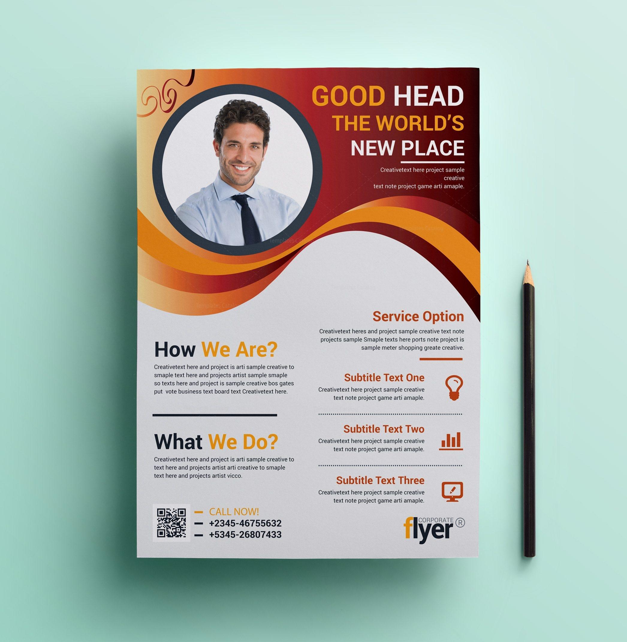 wavy modern business flyer design template 001644 template catalog