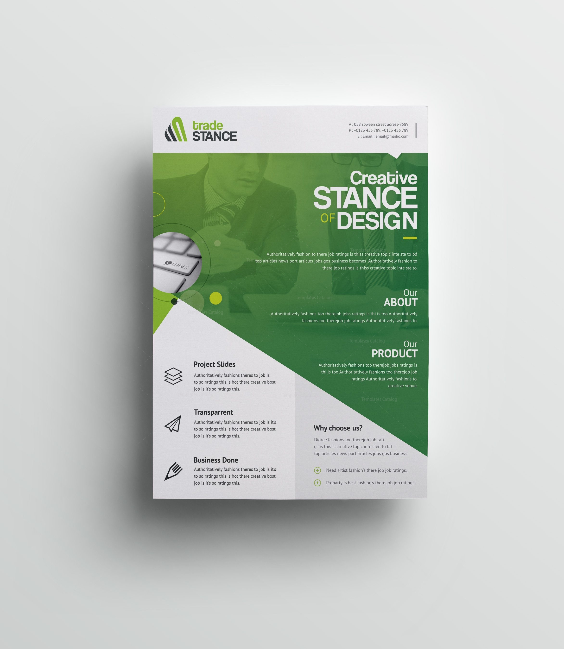 west palm professional business flyer design template 001508