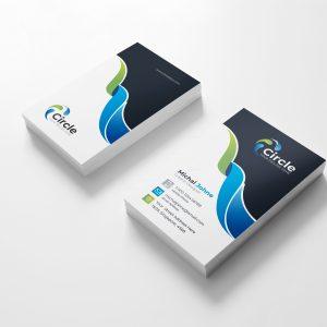 Circle Vertical Business Card Design Template