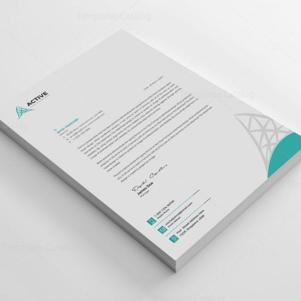 Active Professional Corporate Letterhead Design Template 2