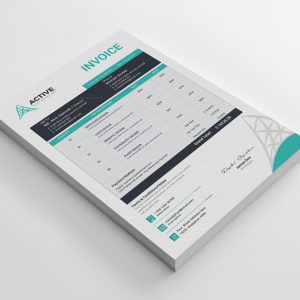 Active Professional Invoice Design Template