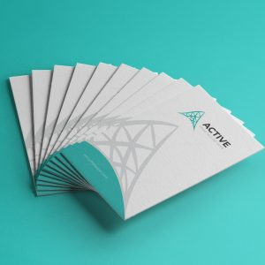 Active Vertical Business Card Design Template