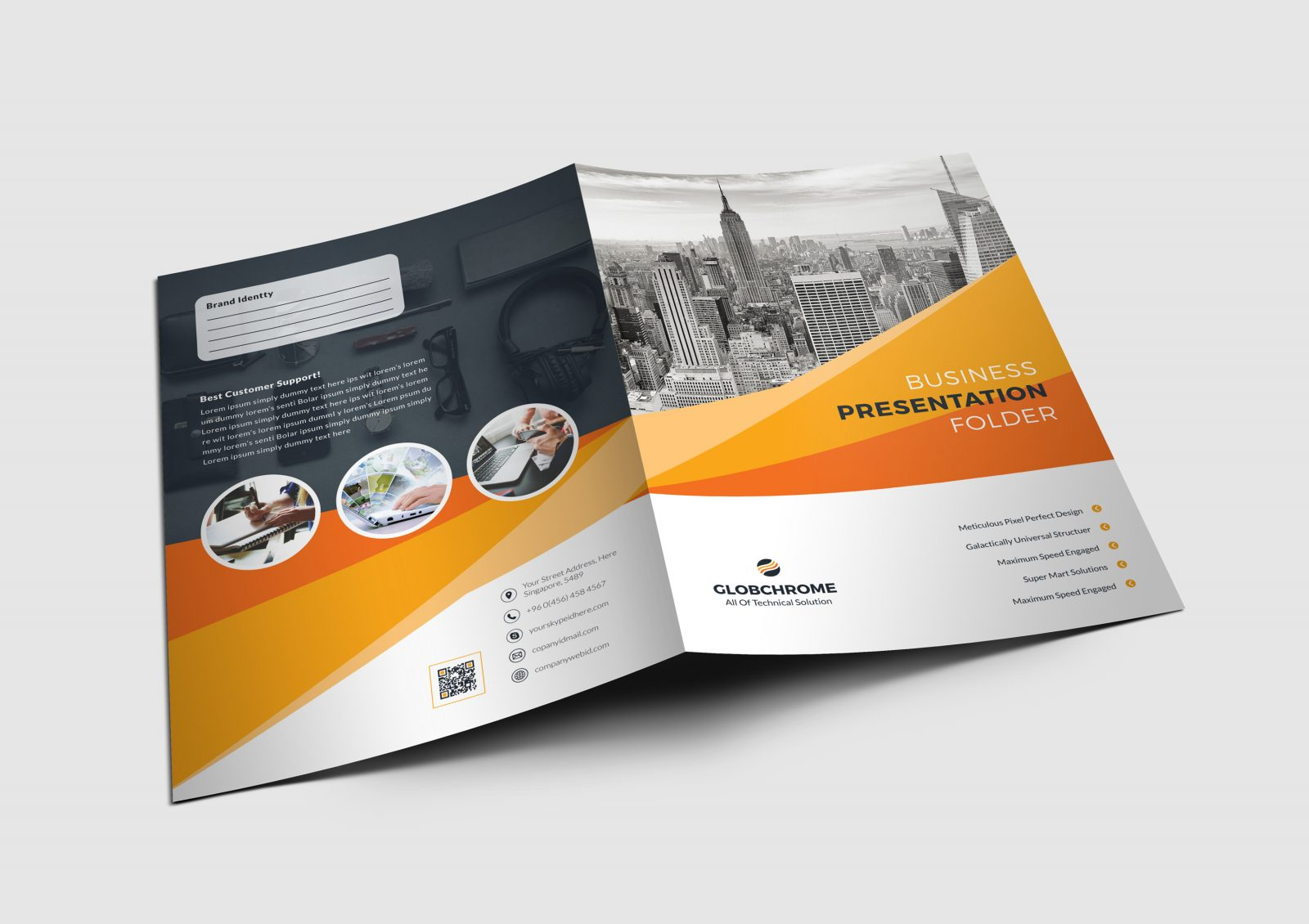 california modern presentation folder design template