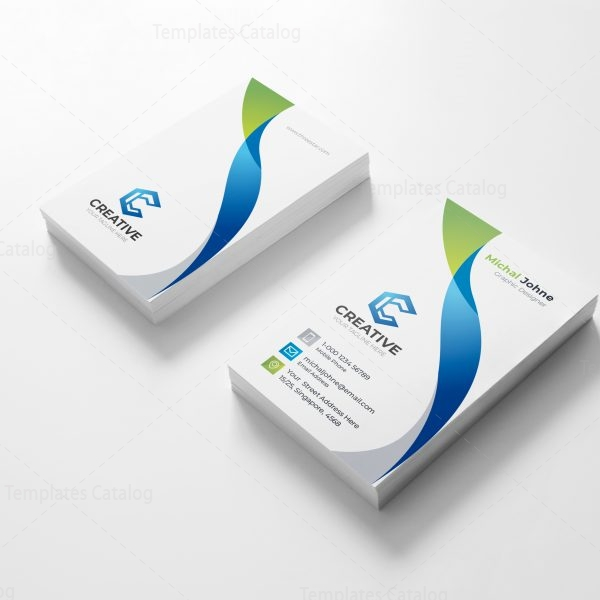 Clean creative business card design template 001808 template catalog clean creative business card design template 1 reheart Choice Image