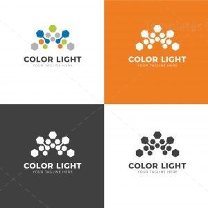 Color Light Creative Logo Design Template