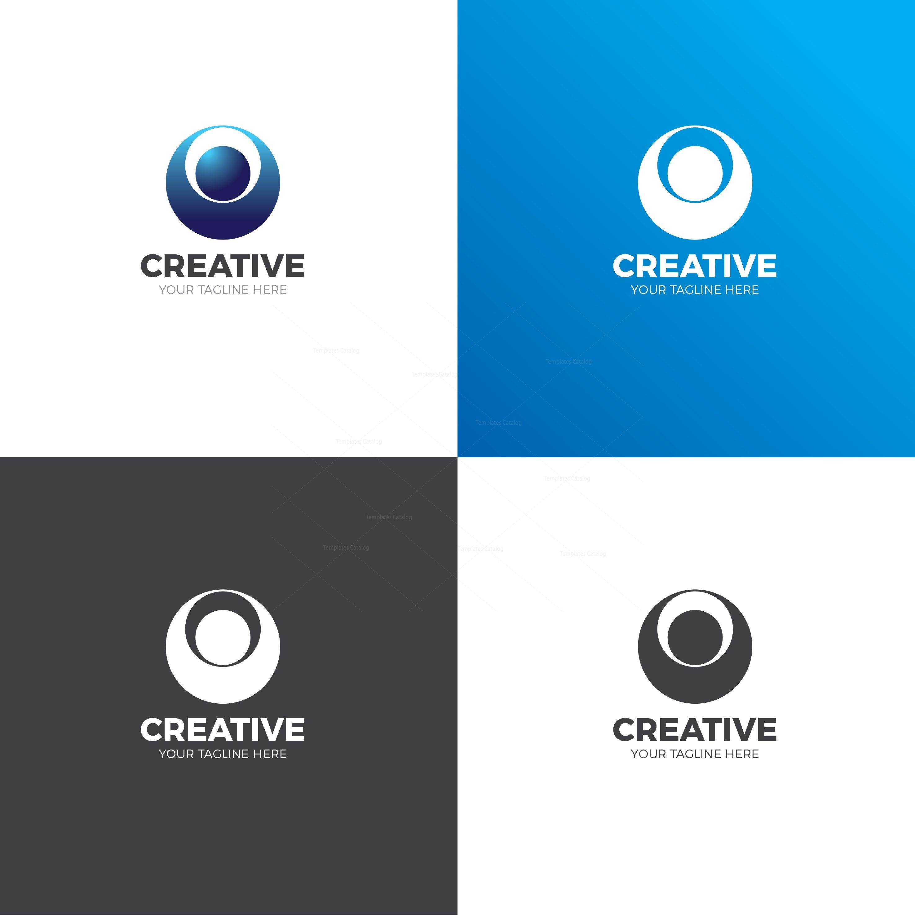 creative company logo design template 001708 template