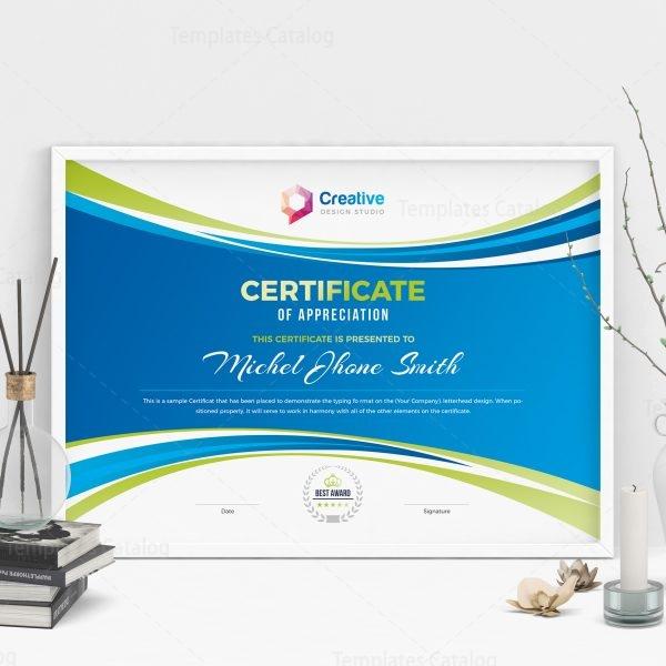 Creative Landscape Certificate Design Template 001806 ...