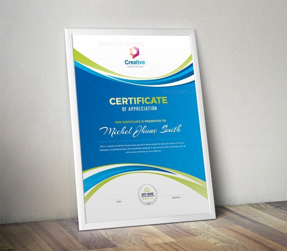 Creative Portrait Certificate Design Template 001807 Template Catalog
