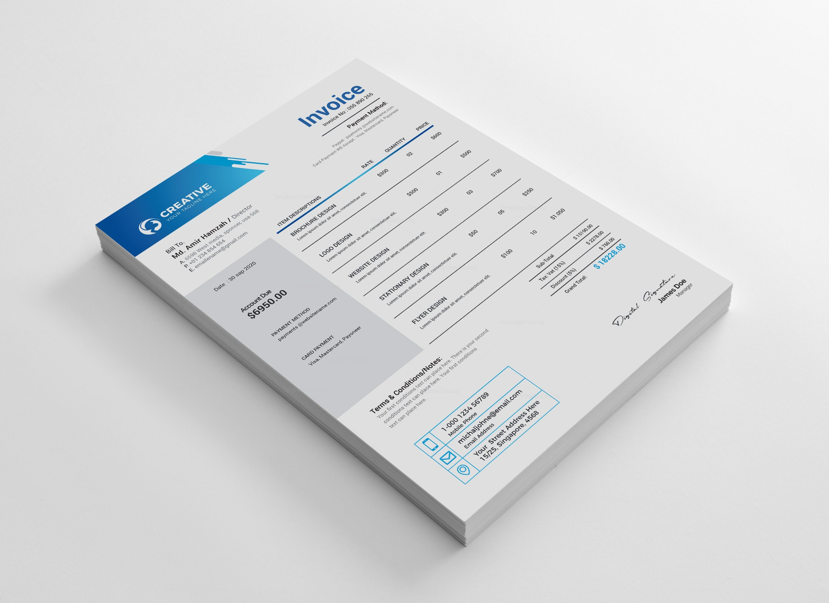 Creative Professional Invoice Design Template