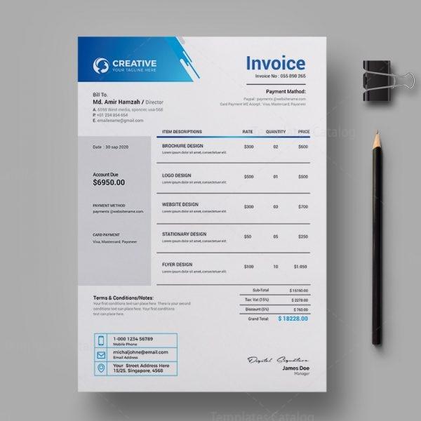Creative Professional Invoice Design Template 2