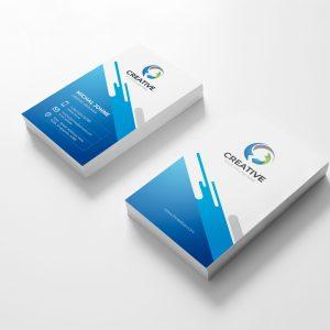 Creative Vertical Business Card Design Template
