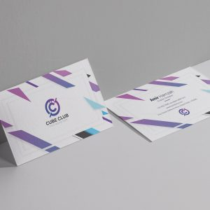 Cube Club Business Card Design Template
