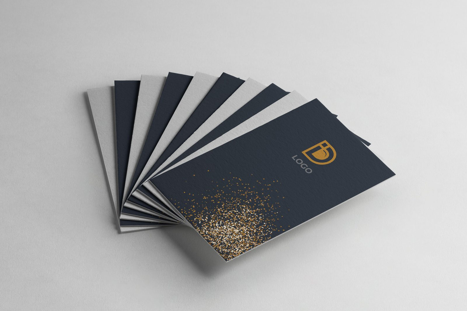 digital company vertical business card design template