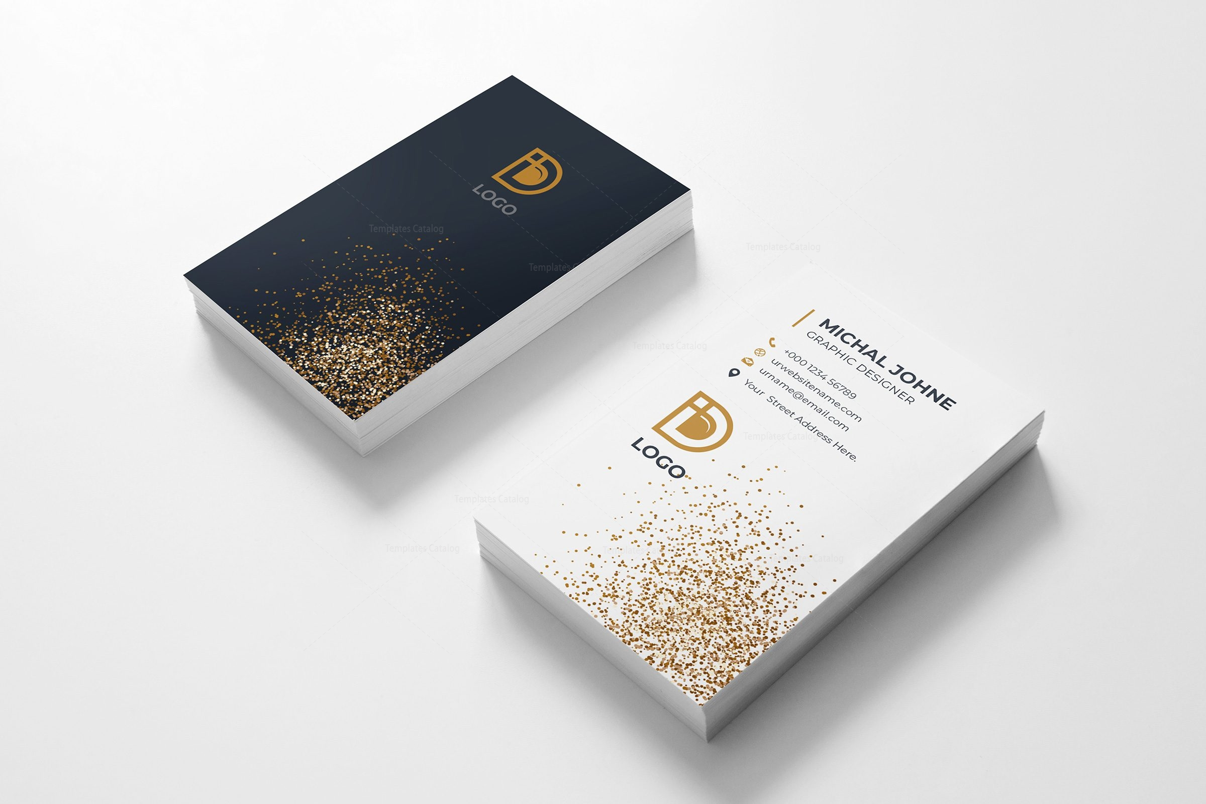 digital company vertical business card design template