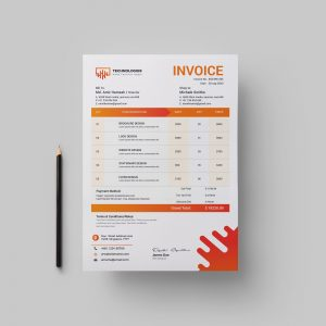 Electronic Professional Corporate Invoice Template