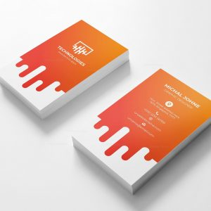 Electronic Vertical Business Card Design Template
