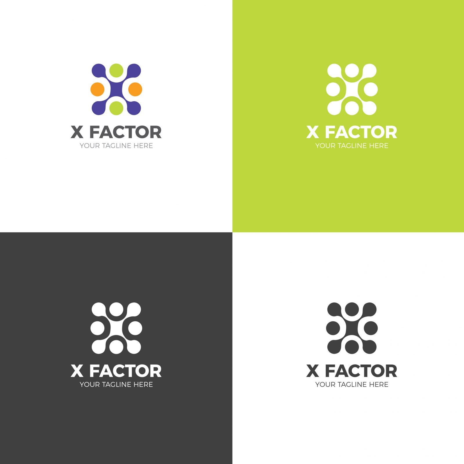 factor creative logo design template 001735