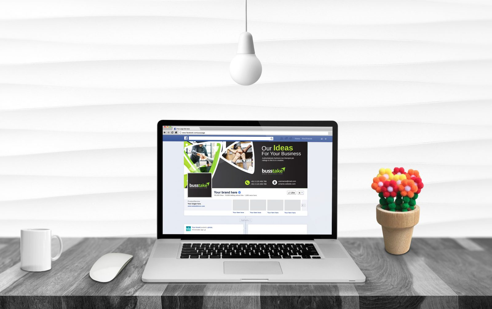 fancy facebook timeline cover template 001657