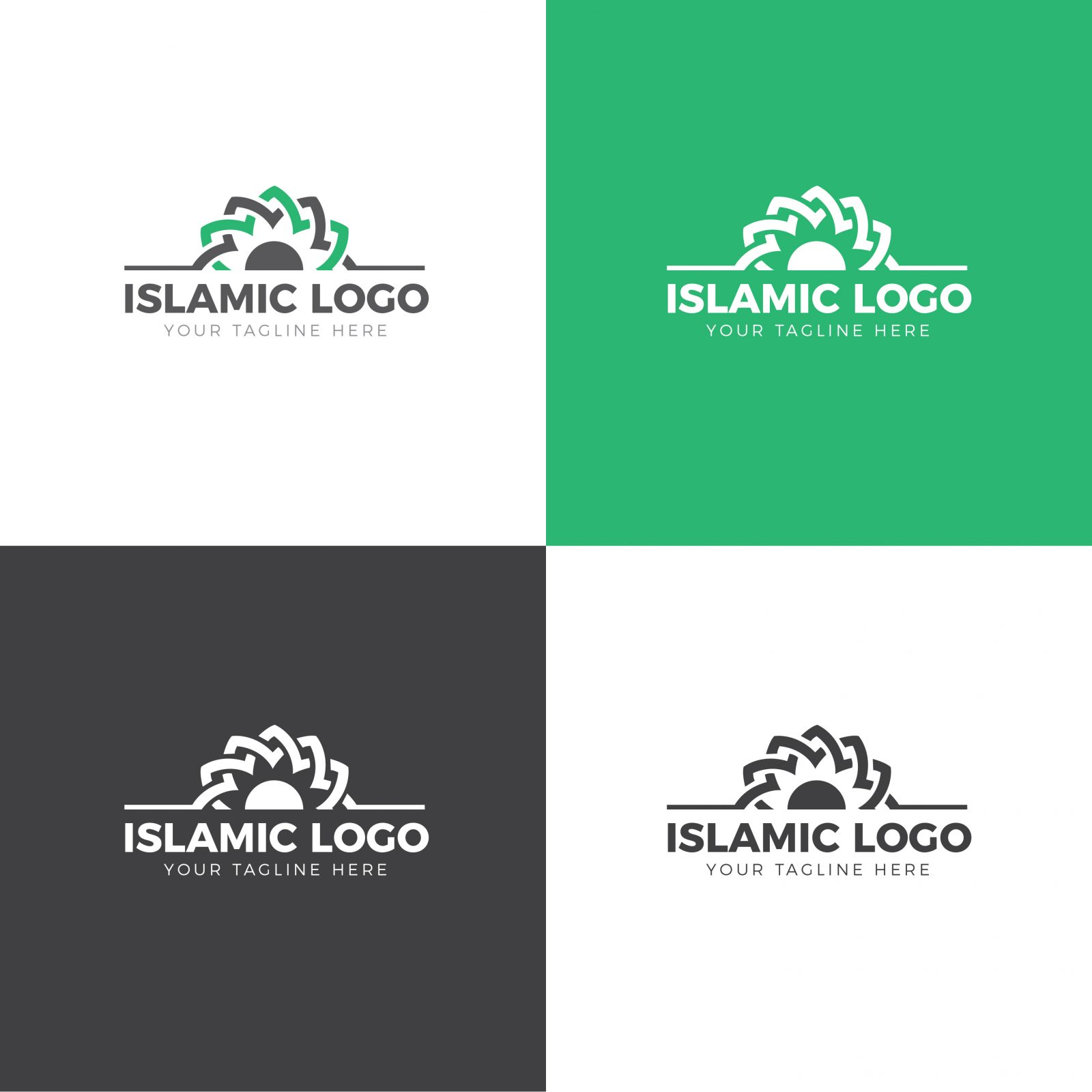 islamic logo design template 001714