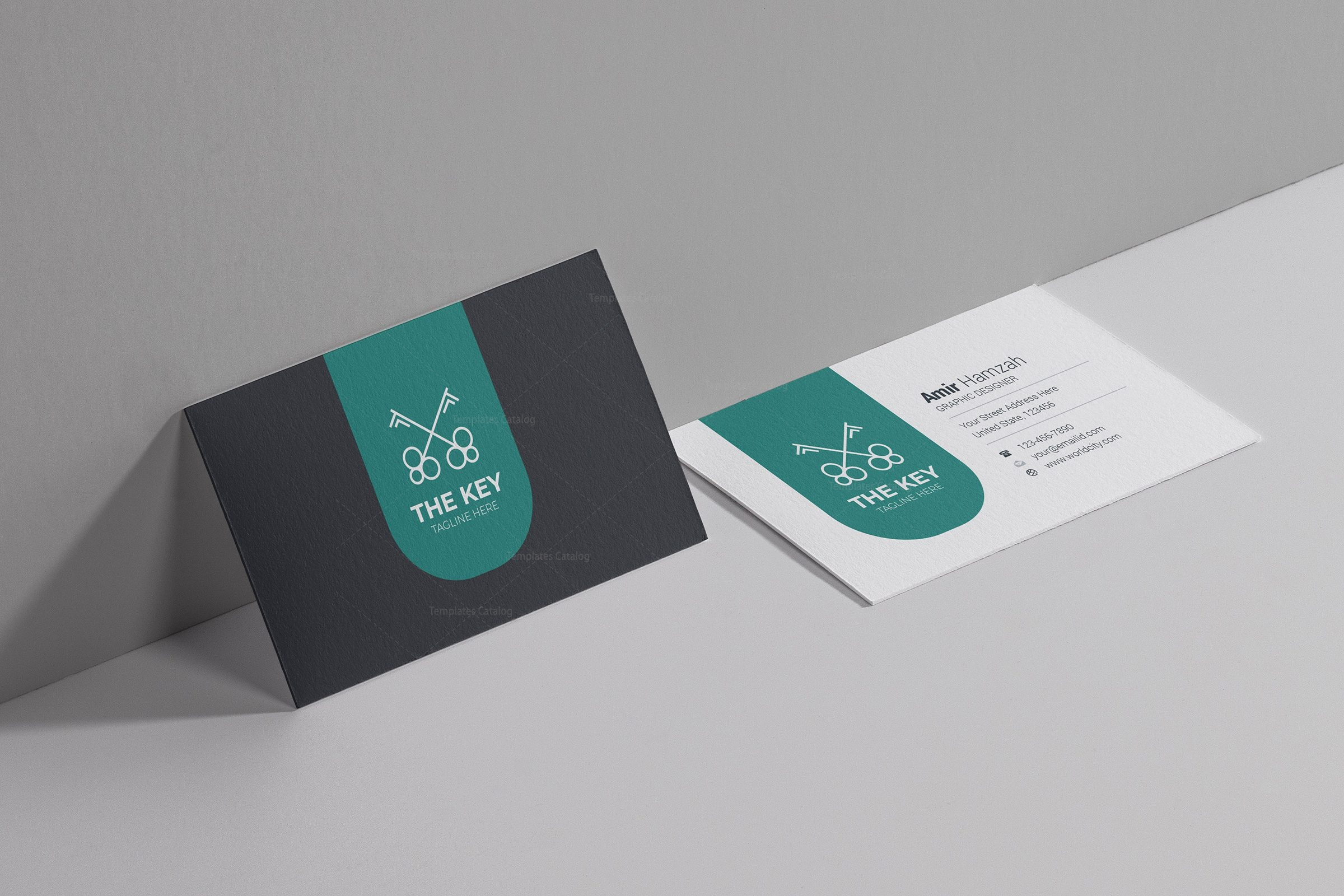 key creative business card design template 001785 template catalog