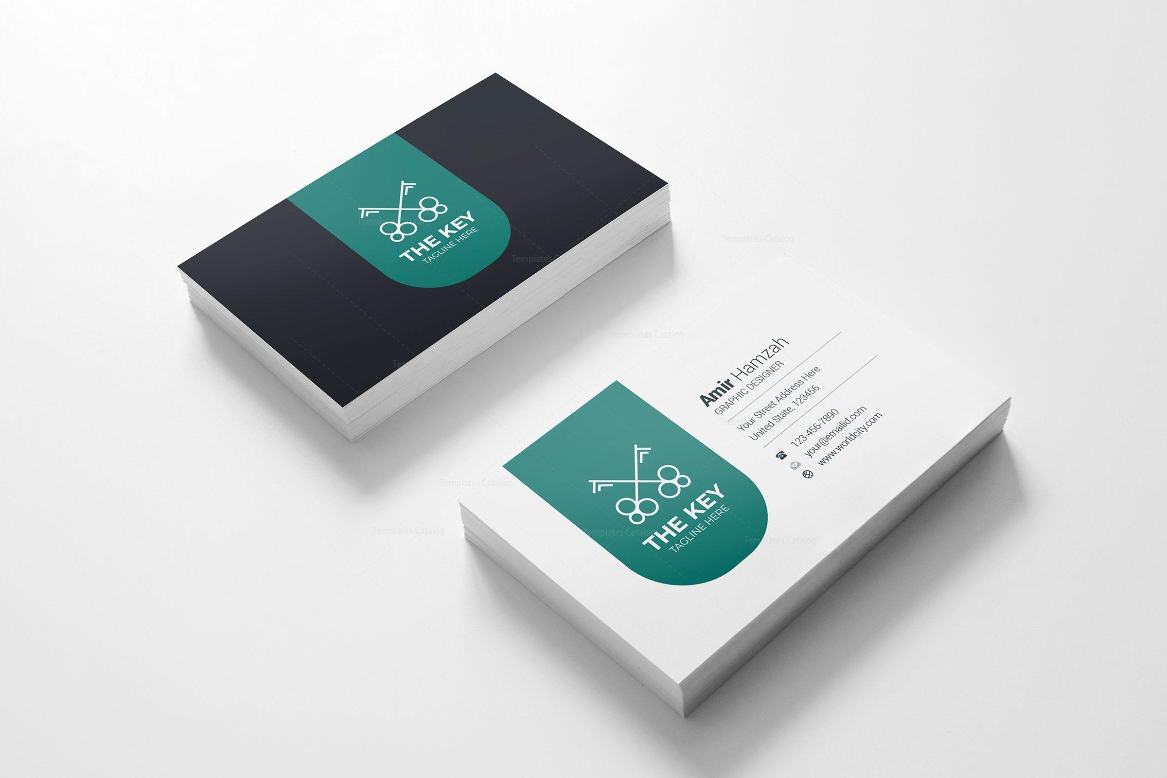Key creative business card design template 001785 template catalog key creative business card design template 3 reheart Choice Image