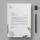 Leaf Professional Corporate Letterhead Template 1