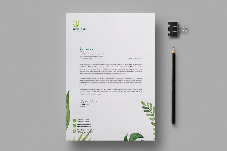 Leaf Professional Corporate Letterhead Template 1 - Template Catalog