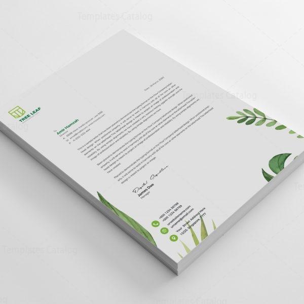 Leaf Professional Corporate Letterhead Template 2