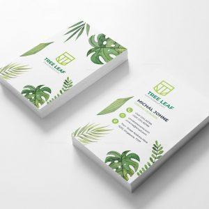 Leaf Vertical Business Card Design Template