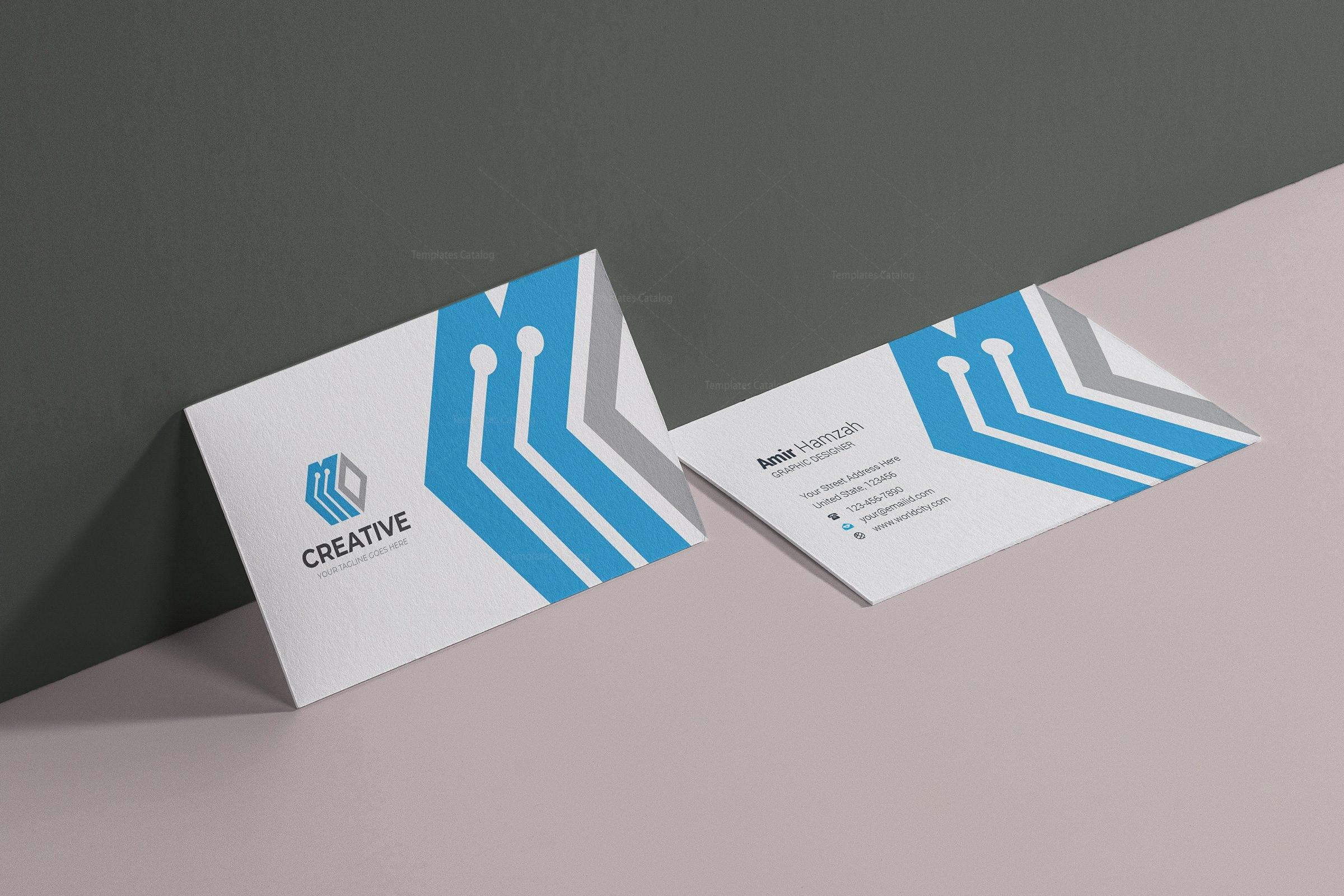 london creative business card design template 001783