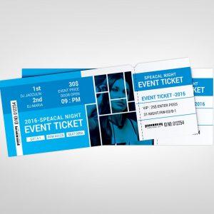 London Event Ticket Design Template