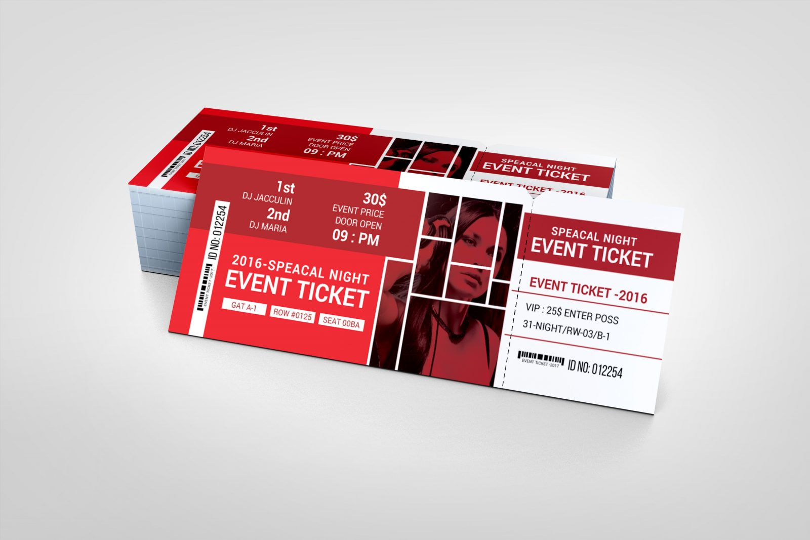 london event ticket design template 001972