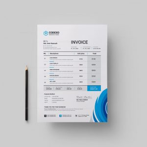 London Professional Corporate Invoice Template
