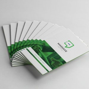 Message Application Business Card Design Template