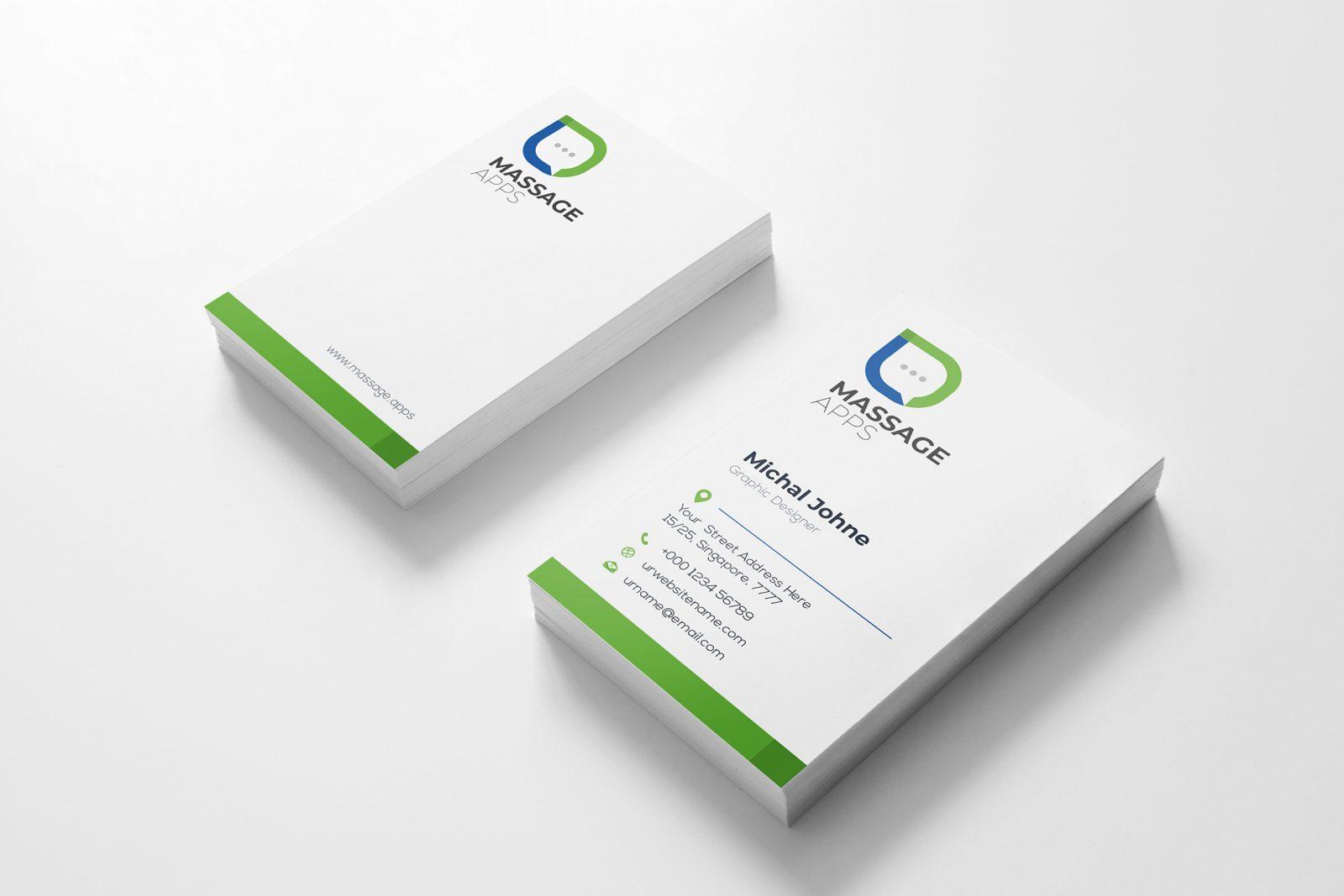 message creative business card design template 001793