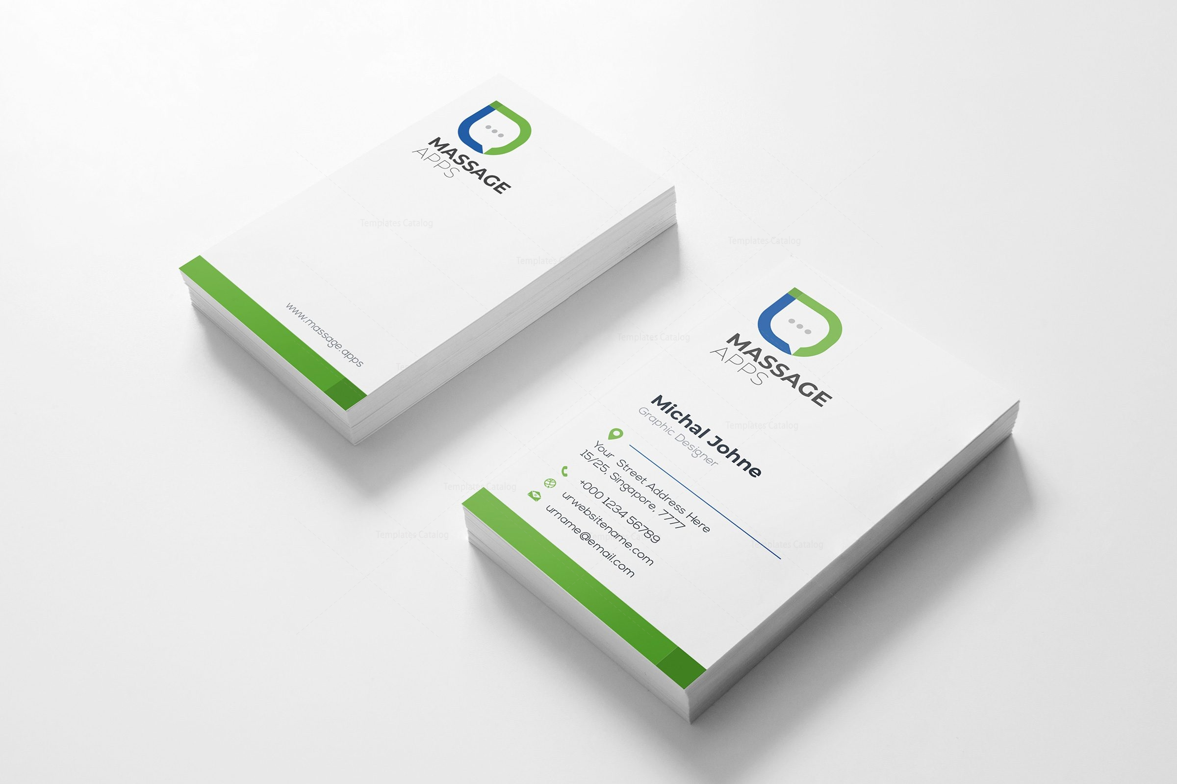 Message creative business card design template 001793 template catalog message creative business card design template 2 cheaphphosting Images