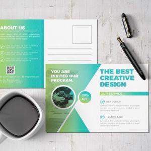 Modern Corporate Postcard Design Template