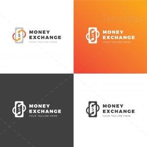 Money Exchange Creative Logo Design Template