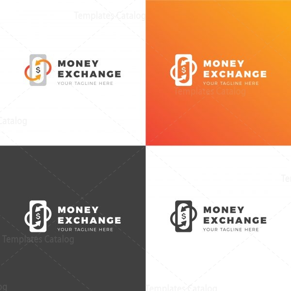 Money Exchange Creative Logo Design Template