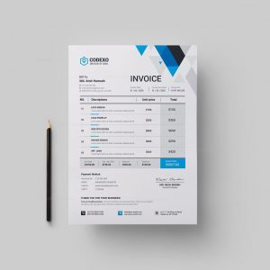 Paris Professional Corporate Invoice Template