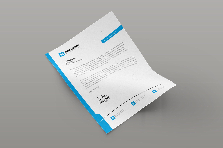 Plain Creative Corporate Letterhead Design Template 1