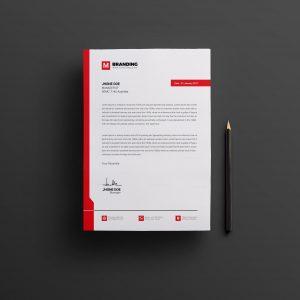Plain Creative Corporate Letterhead Design Template