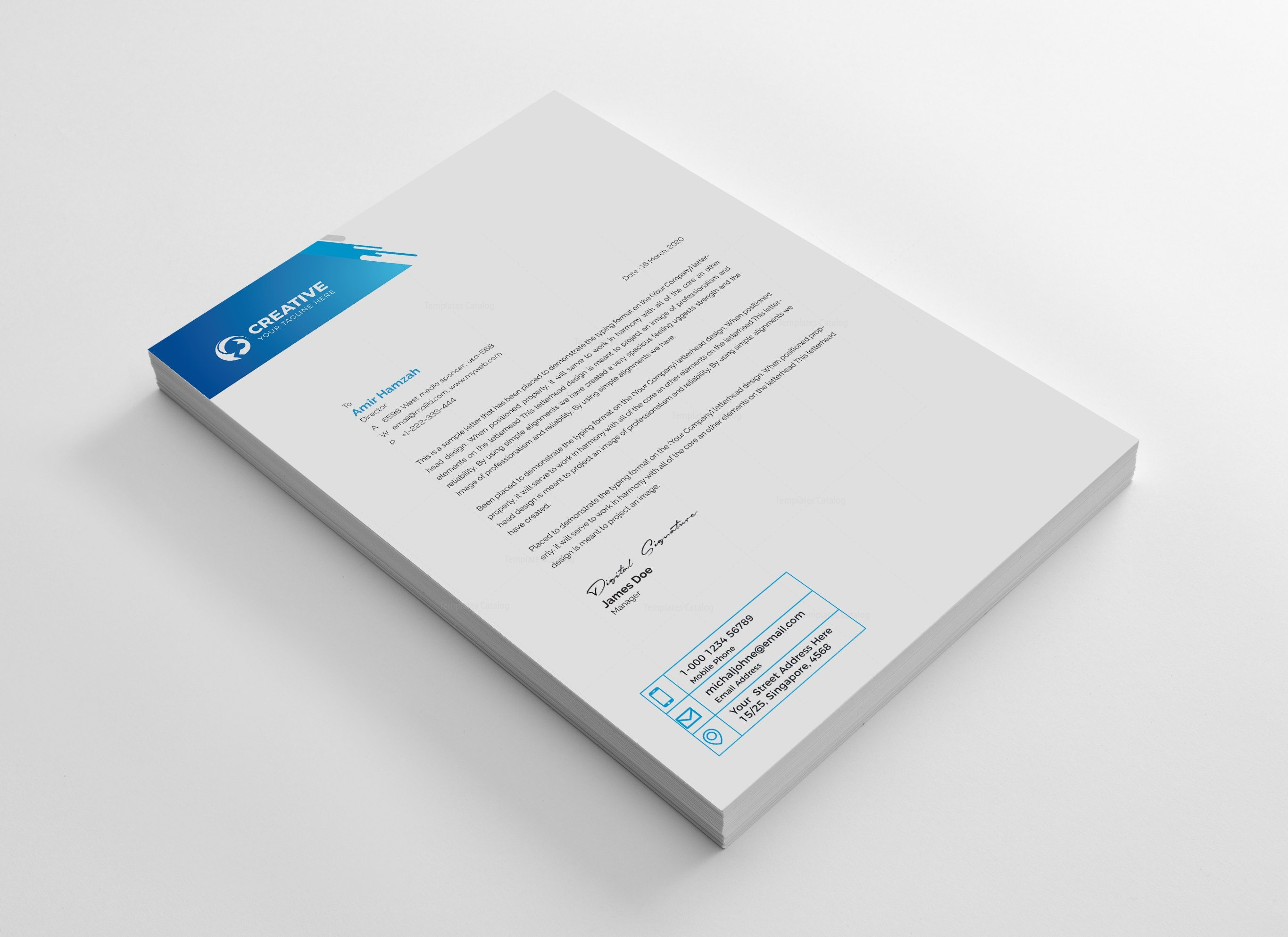 Professional corporate letterhead design template 001946 template professional corporate letterhead design template 2 accmission