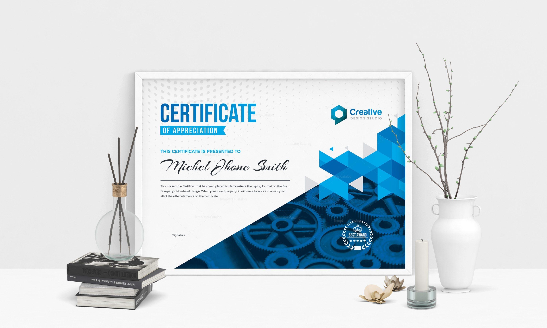 professional landscape certificate design template 001804 template