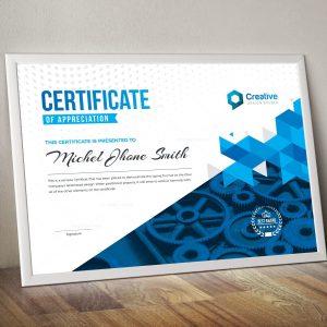 Professional Landscape Certificate Design Template
