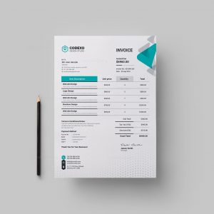 Rome Professional Corporate Invoice Template