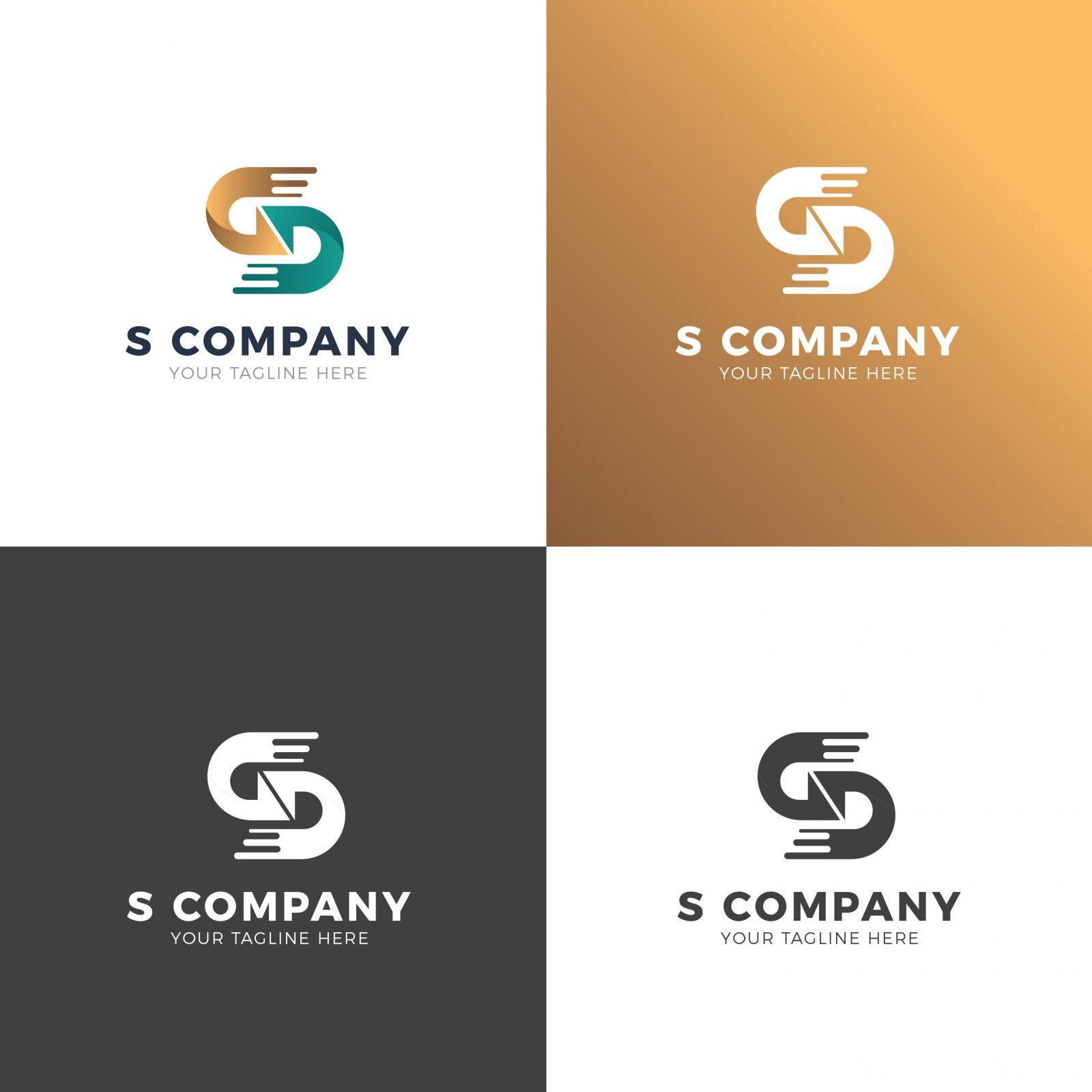 sd professional logo design template 001931