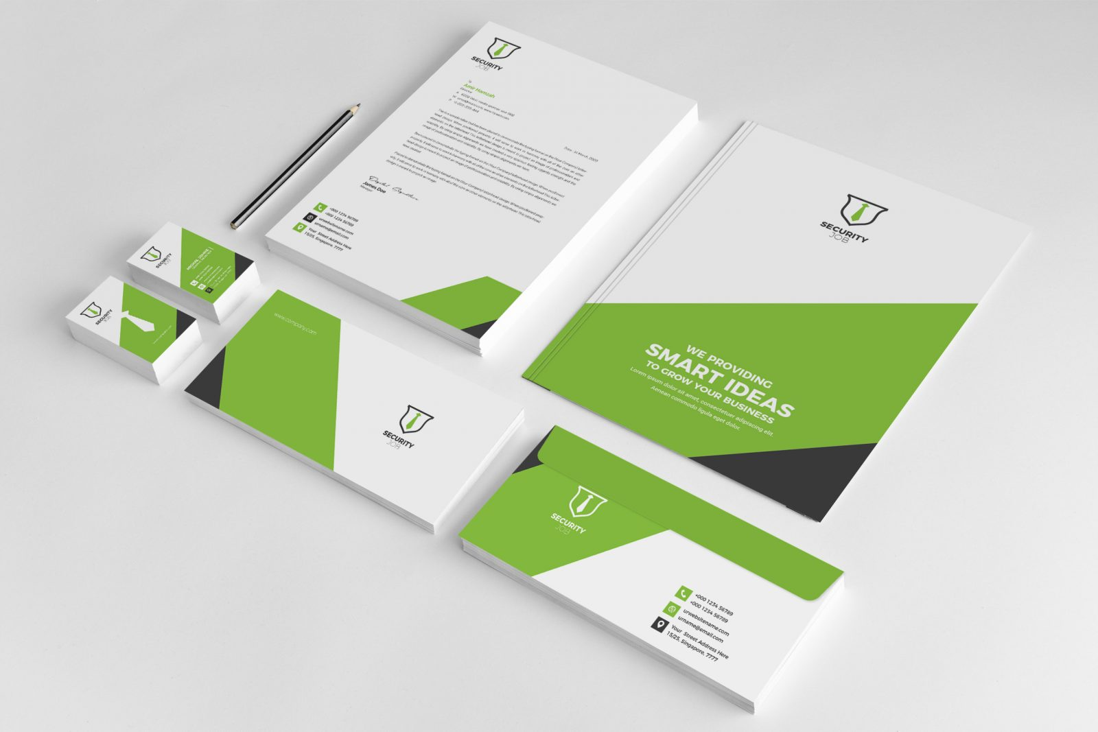 security company creative corporate identity template