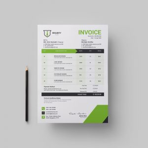 Security Job Professional Corporate Invoice Template